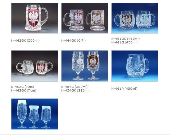 beer glasses and tankards