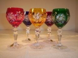 colored crystal wine glasses