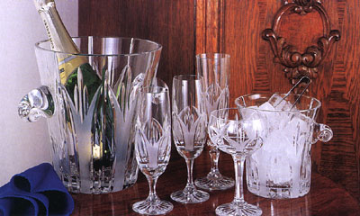 crystal glass arrangement