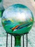 polish gazing globe