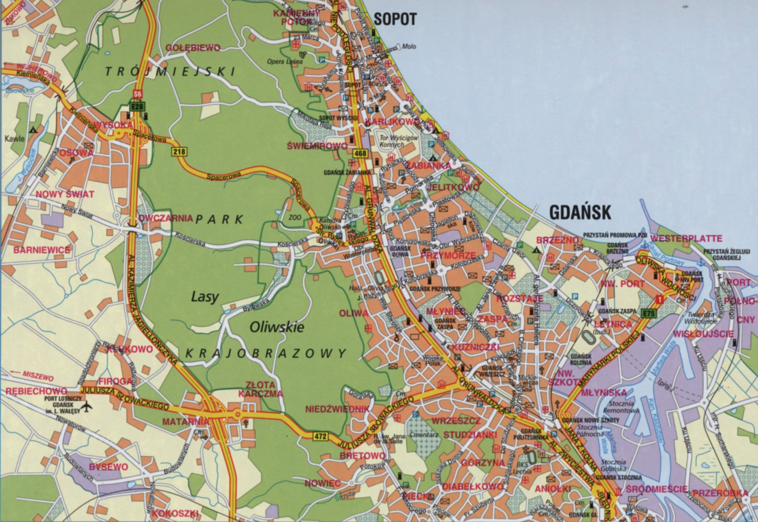 Map of Gdańsk