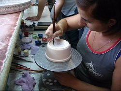 painting polish pottery