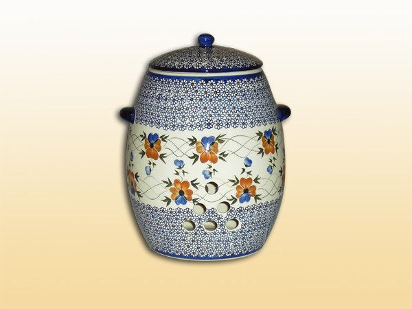 polish pottery potato jug