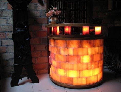 salt bricks lighted