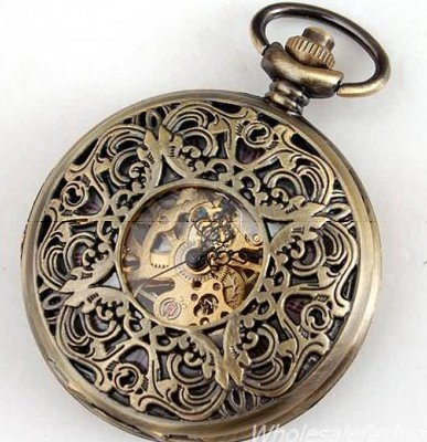 roman skeleton pocket watch